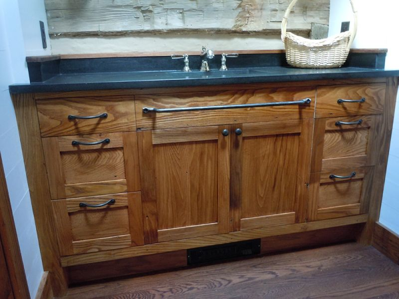 reclaimed wormy chestnut cabinets. Black Bedroom Furniture Sets. Home Design Ideas